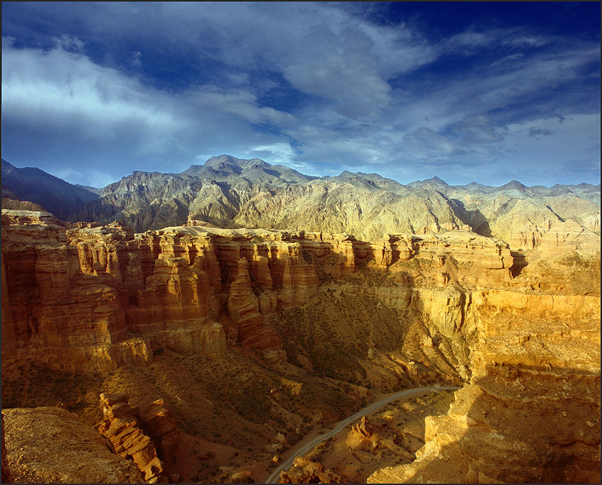 canyon | mountains, valley, sky, canyon, panorama