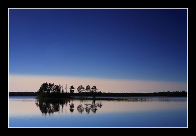 meditative | отражение, озеро, силуэт, сосна, небо