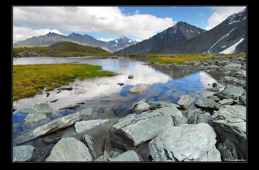 valley of seven lakes ak-ojuk, g.a. (07) | valley, rocks, lake, mountains, rush
