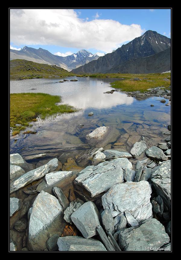 valley of seven lakes ak-ojuk, g.a. (10) | lake, mountains, valley, rocks, clouds