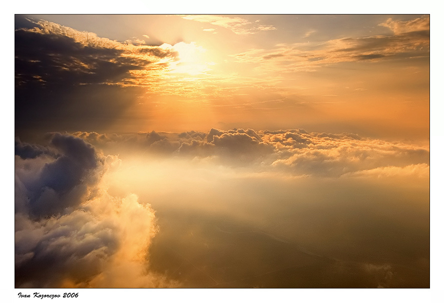 Sun Goes Down | panorama, sun, clouds, sky, beams