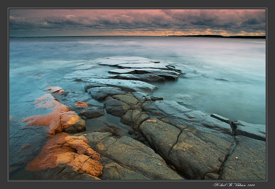 Valaam. Ladoga coast. | river, rocks, shore, clouds
