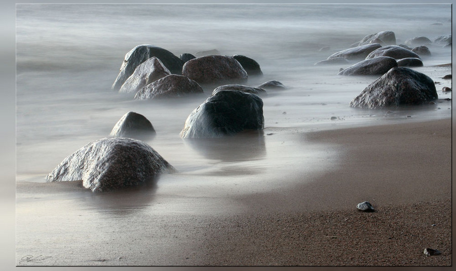 Tale of the Time | seashore, stones, water, sand