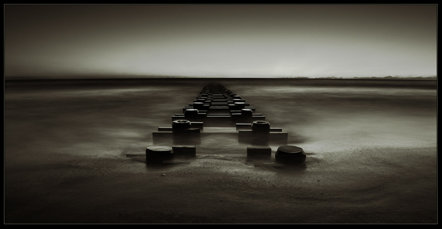 Road   dock, black and white, sea, shore, sand