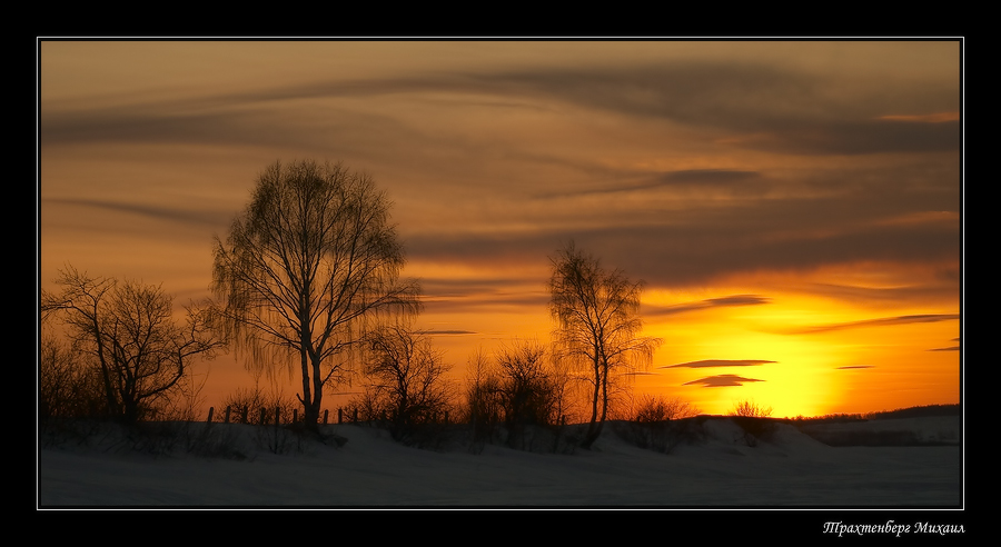 And tomorrow the spring came p.2 | snow, dusk, silhouette, winter