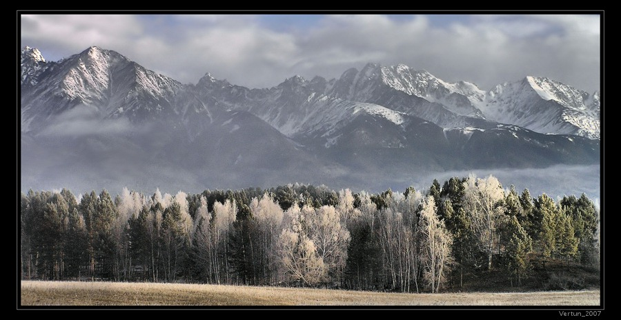 and mountains as if they were a lift for clouds... | autumn, clouds, fog, forest, mountains