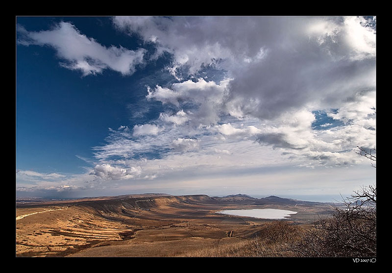 Fly Away... | lake, panorama, steppe, sky, clouds