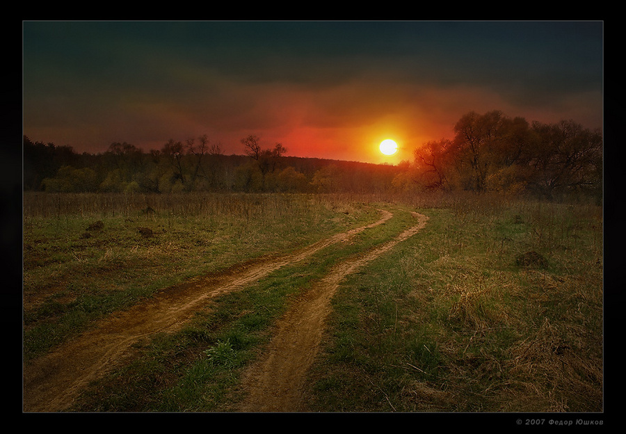run, run behind the sun... | evening, grass, sun, field, pathway