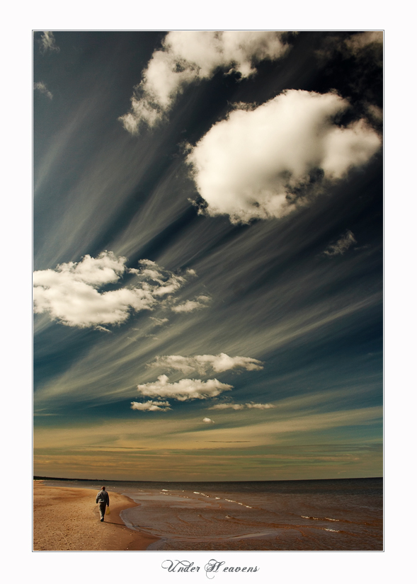 under heavens | clouds, sky, sand, sea, beach