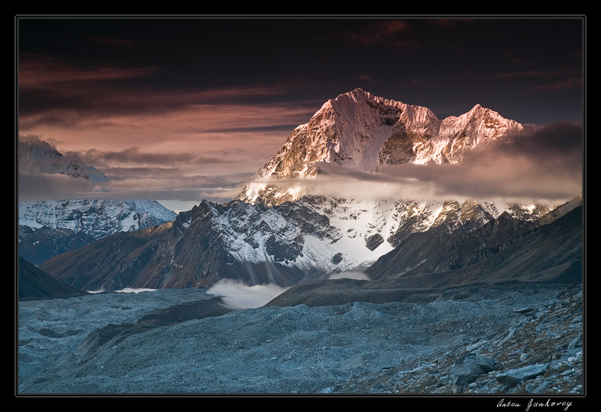 from series such mysterious nepal ii | clouds, mountains, ice, snow, glacier