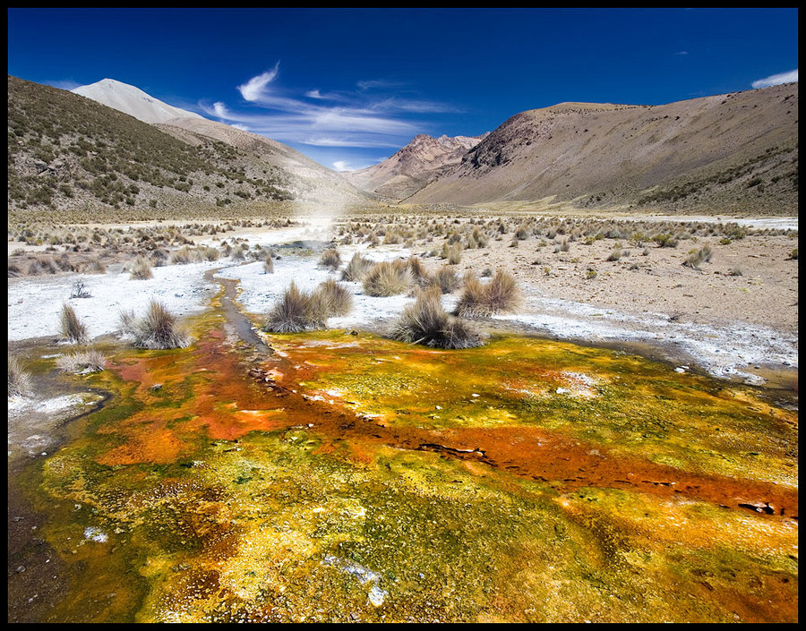thermal springs. bolivia   spring, mountains