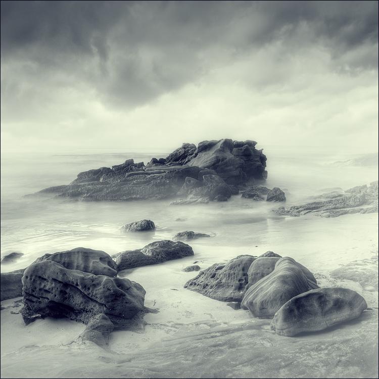 Coast | rendering, sea, stones