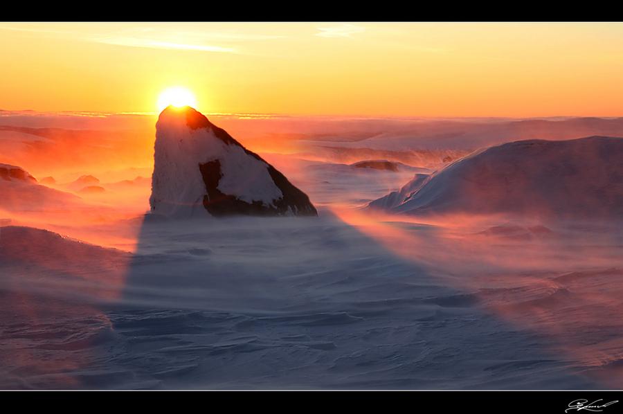 Lapland | rise, sun, snow