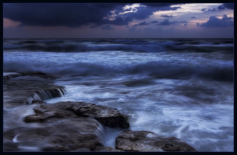 mediterranean sea, once in the evening 5   rocks, foam, sea, waves, shore