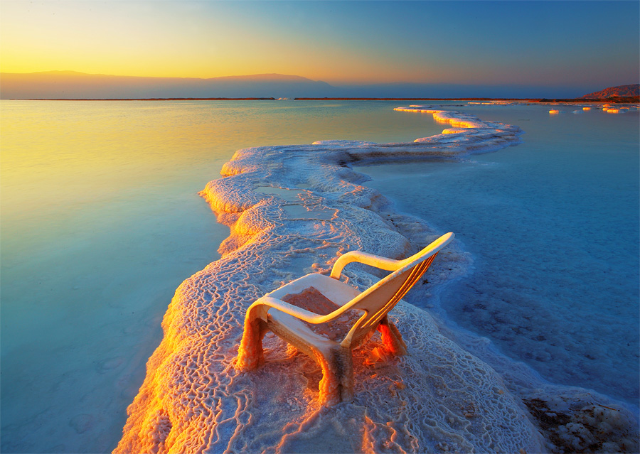 Ice age | sea, dusk, skyline, ice, chair