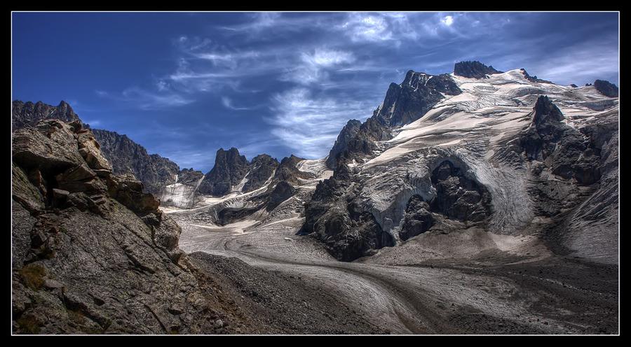 Dark Caucasia   mountains, sky, clouds, road, rock