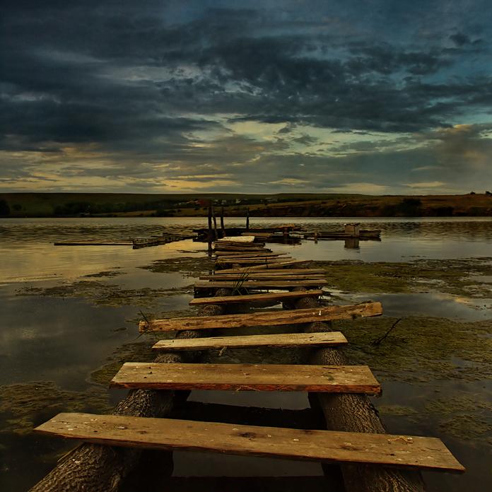 To nowhere | wharf, sky, river, dusk