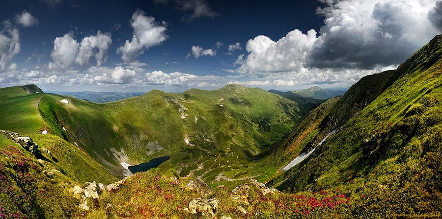 Carpathians | mountains, sky, clouds, hdr, summer