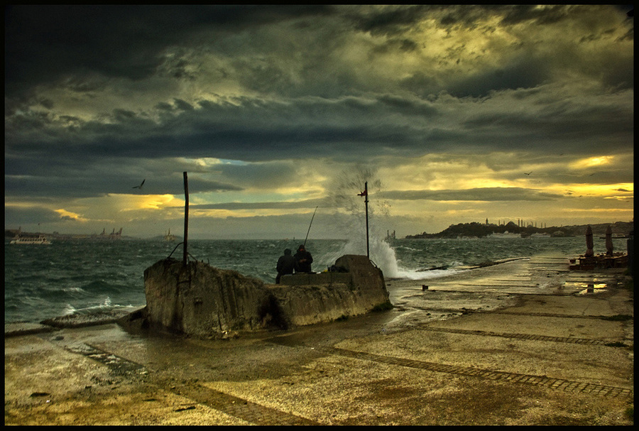 Zuiden | clouds, sea, hdr, people, wharf