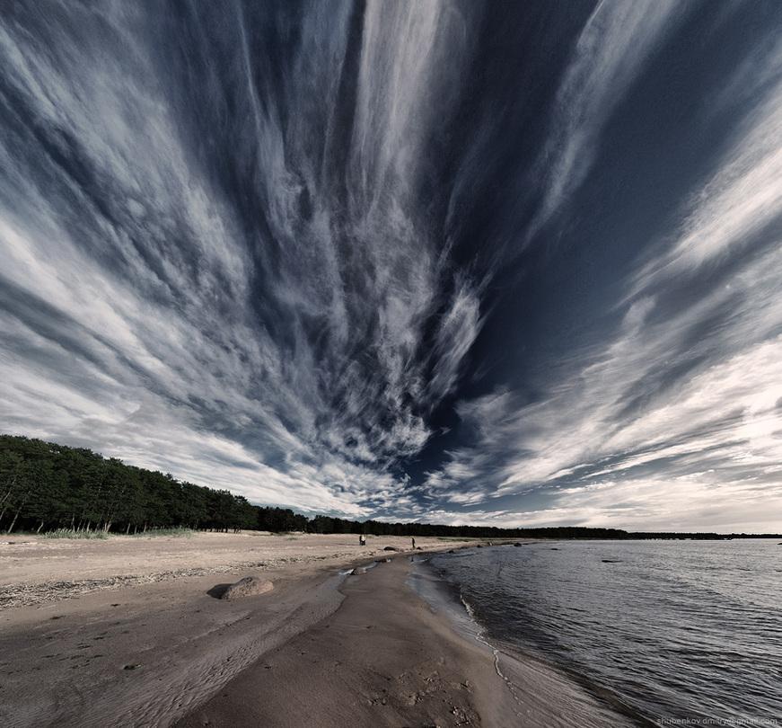 Lines | sand, shore, river, sky