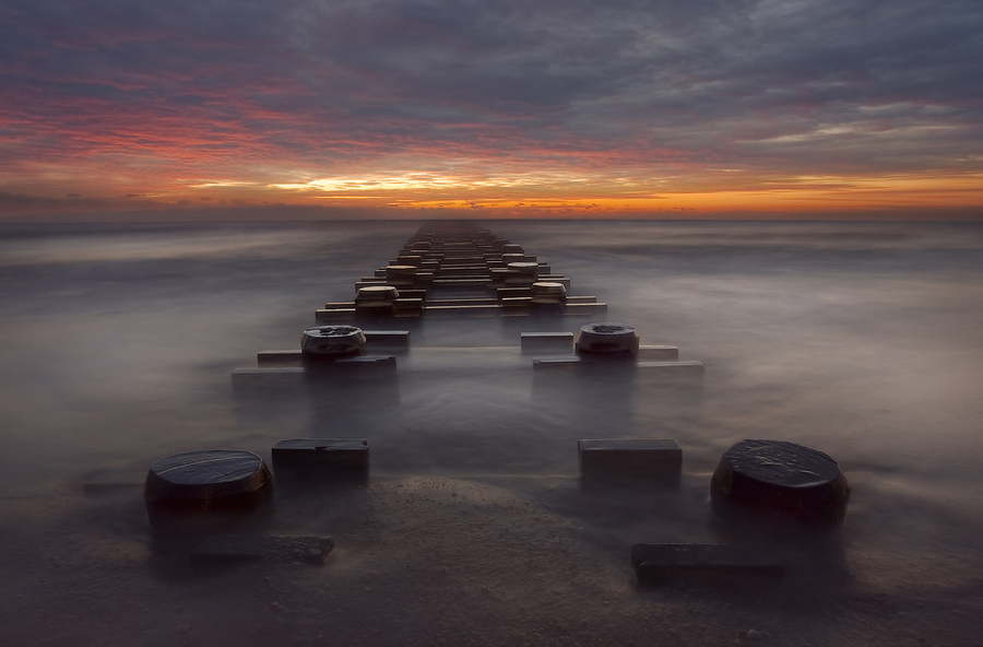 Stairway to HELL | sunset, skyline, mist, sea