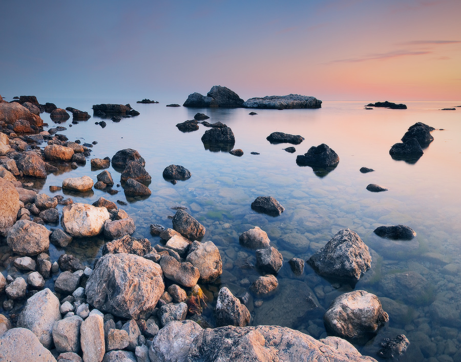 Melody of sleeping stones | sea, evening, stones