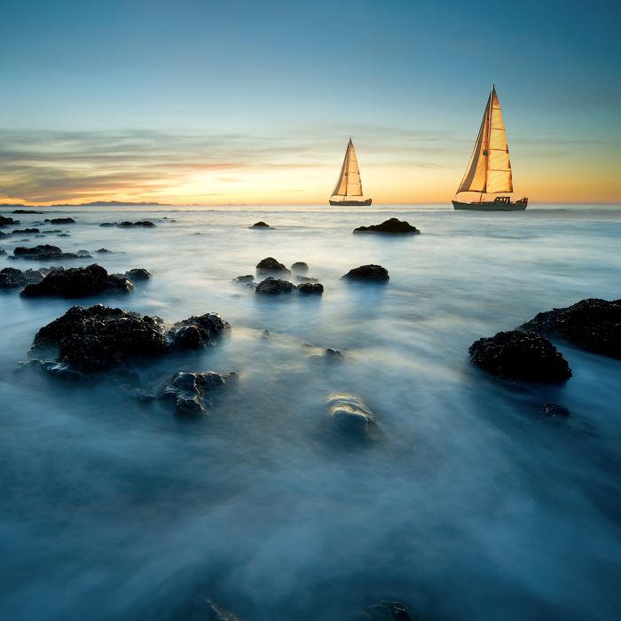 New Zealand | rocks, ship, sea