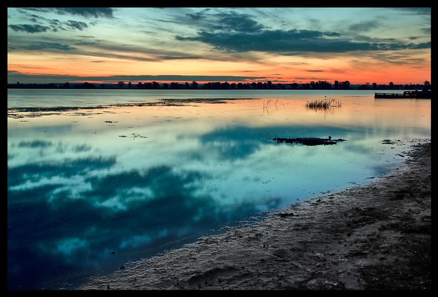 Morning | shore, sunrise, river