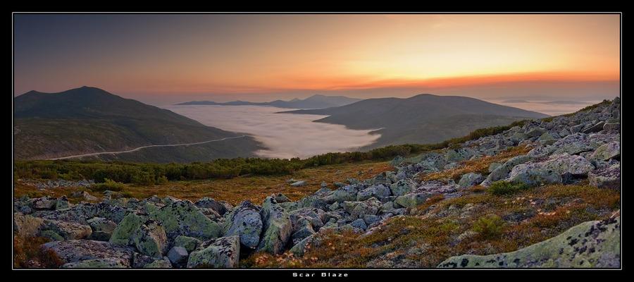 Slow Fog | rocks, panorama, sunrise, fog