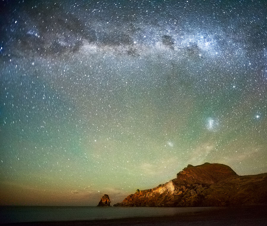 Milky Way   mountains, sky, seashore, stars