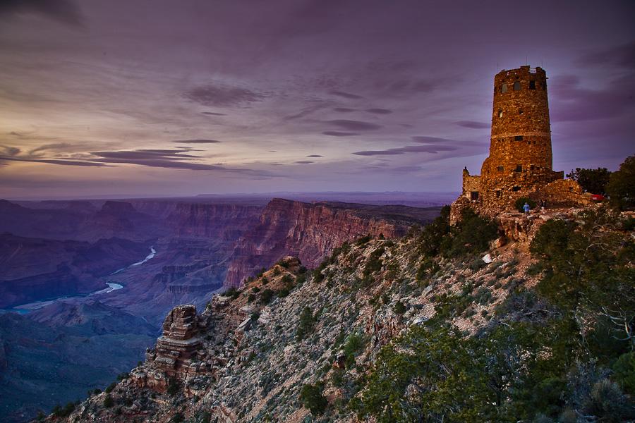 Desert View    panorama, canyon, haze