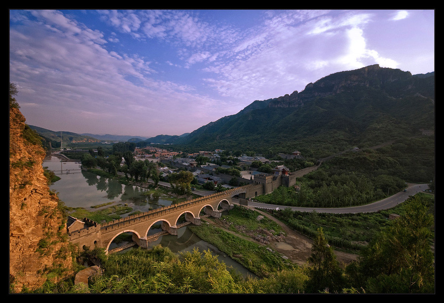 China | panorama, bridge, mountains