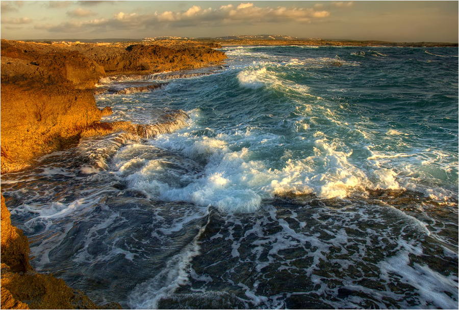 The sea is rising wildly | sea, surf