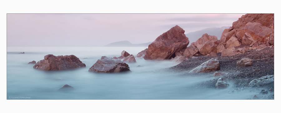 Milky shores | rocks, foam, sea