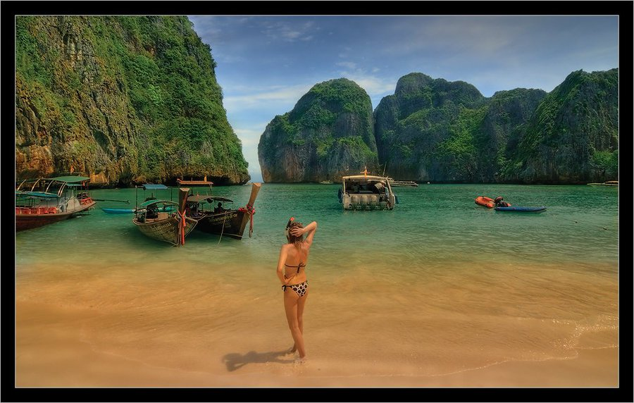 Phi-Phi | sand, sea, people, rocks
