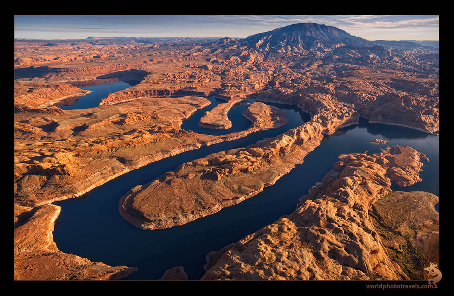 Traceries of nature   water, mountains, canyon, lake