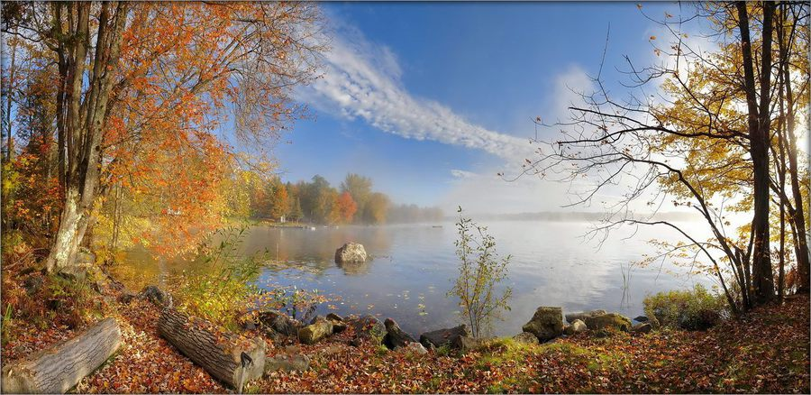 Shadow lake | lake, autumn, panorama