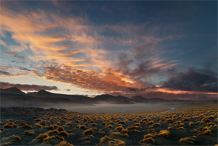 Sunset at Altiplano | sunset, clouds, panorama