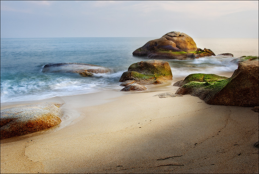 The shore of paradise  | shore, rocks, sea, sand
