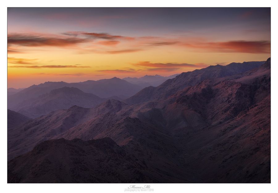Mountains at dawn | mountains, sunrise, morning, Egypt