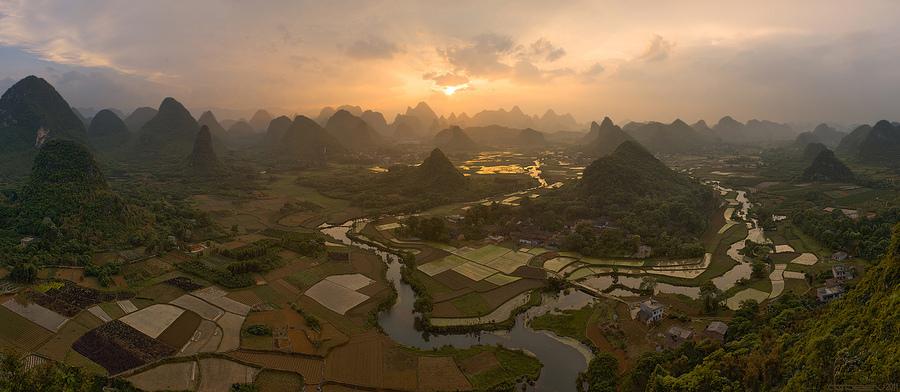 Guangxi hills | dusk, hills, China