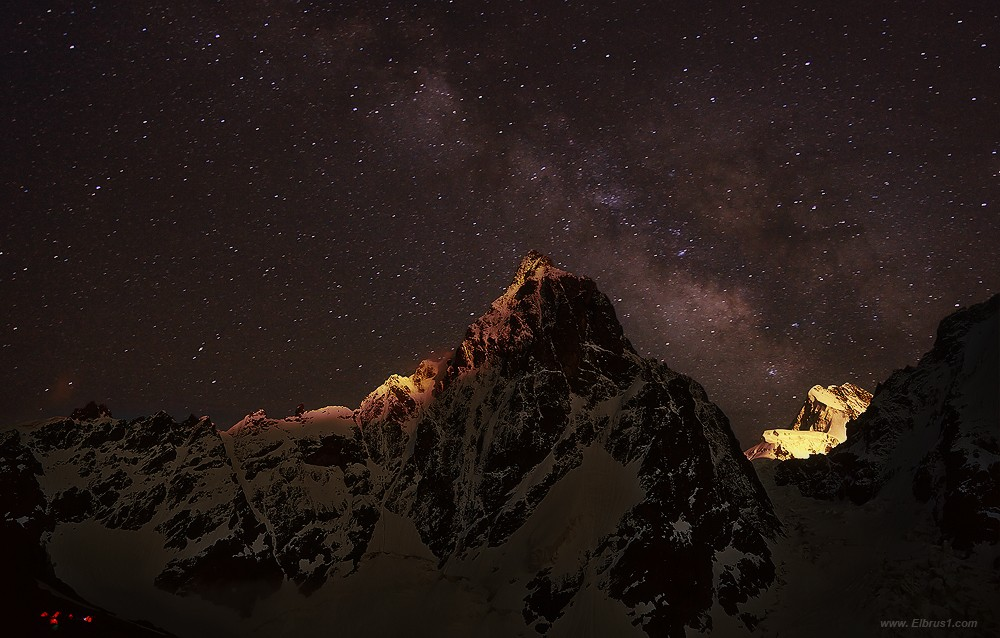 Milky way and the mountain | Milky way, mountain, stars, galaxy