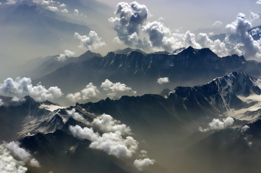 Pamir | mountains, sky, clouds