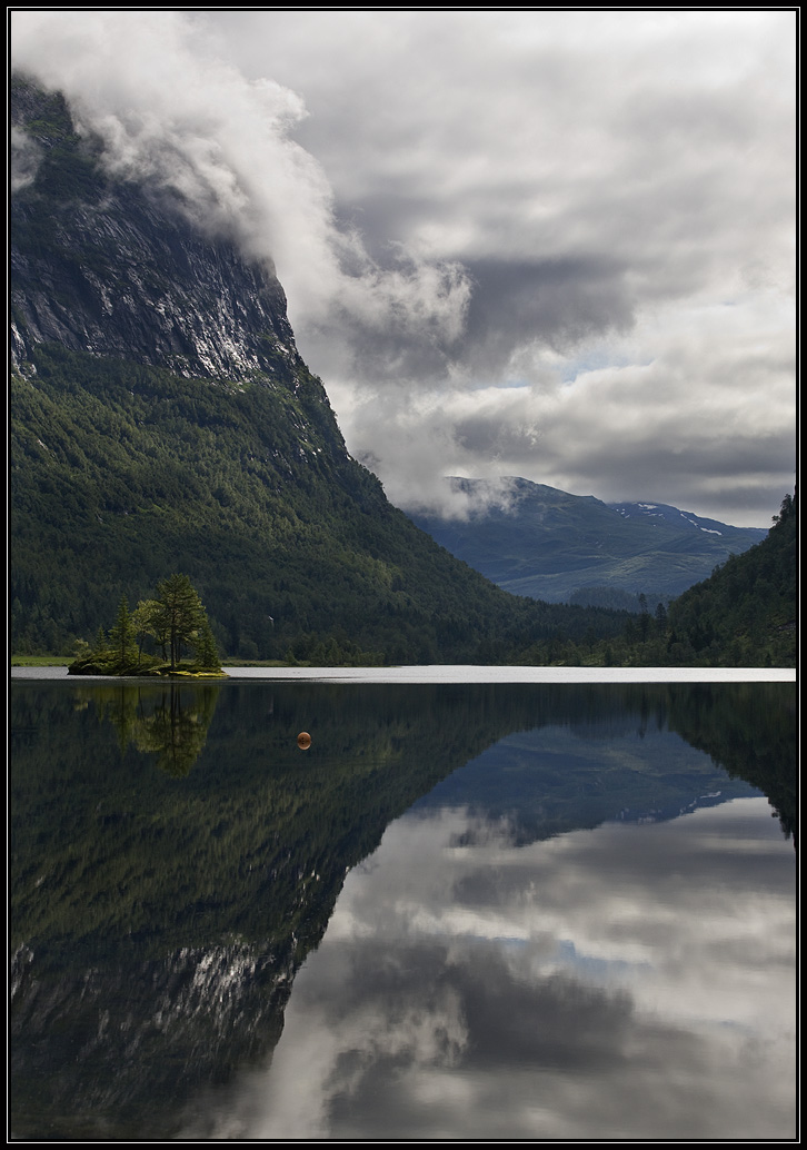 Smooth surface of water, Norway | landscape, nature, Norway, clouds, trees, water, smooth surface, mountains, sky, green