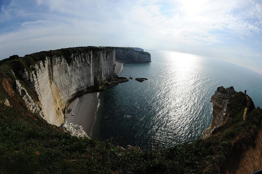 Round bay | bay, sea, cliff, horizon