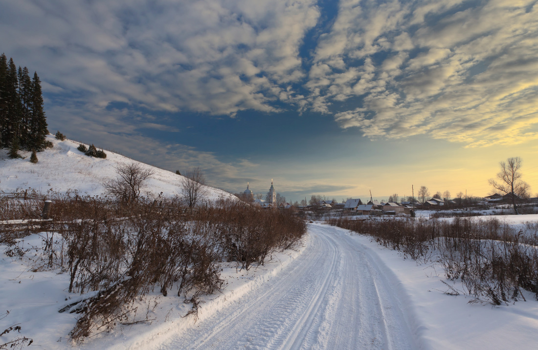 Road in snow | road, path, snow, winter
