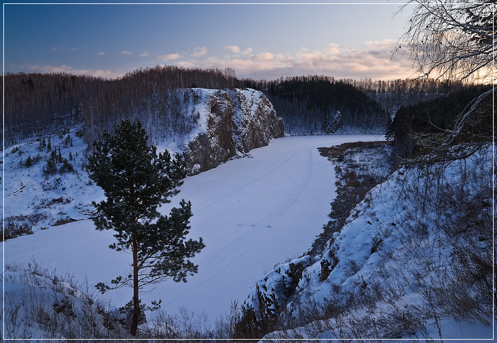 River Iset, winter | landscape, outdoor, nature, winter, snow, trees, forest, Iset , river, clouds