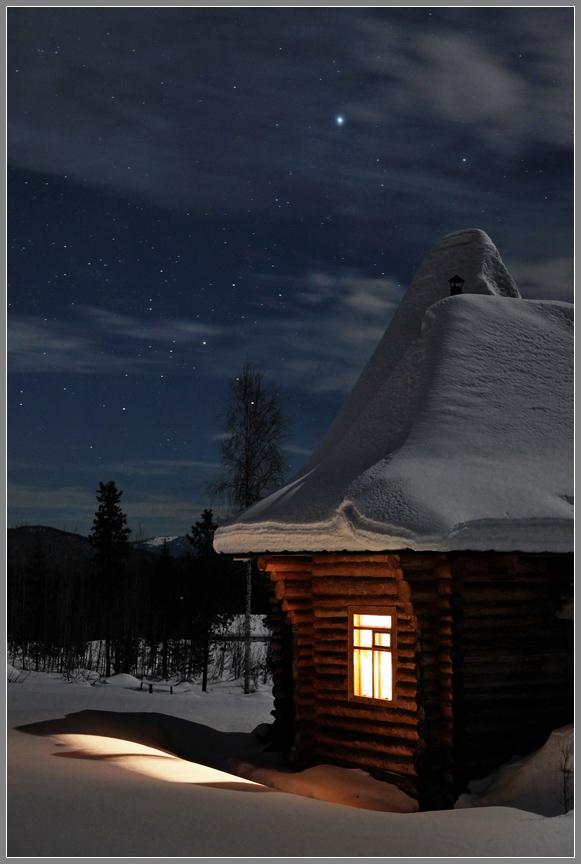 The light in the window | window, house, light, night