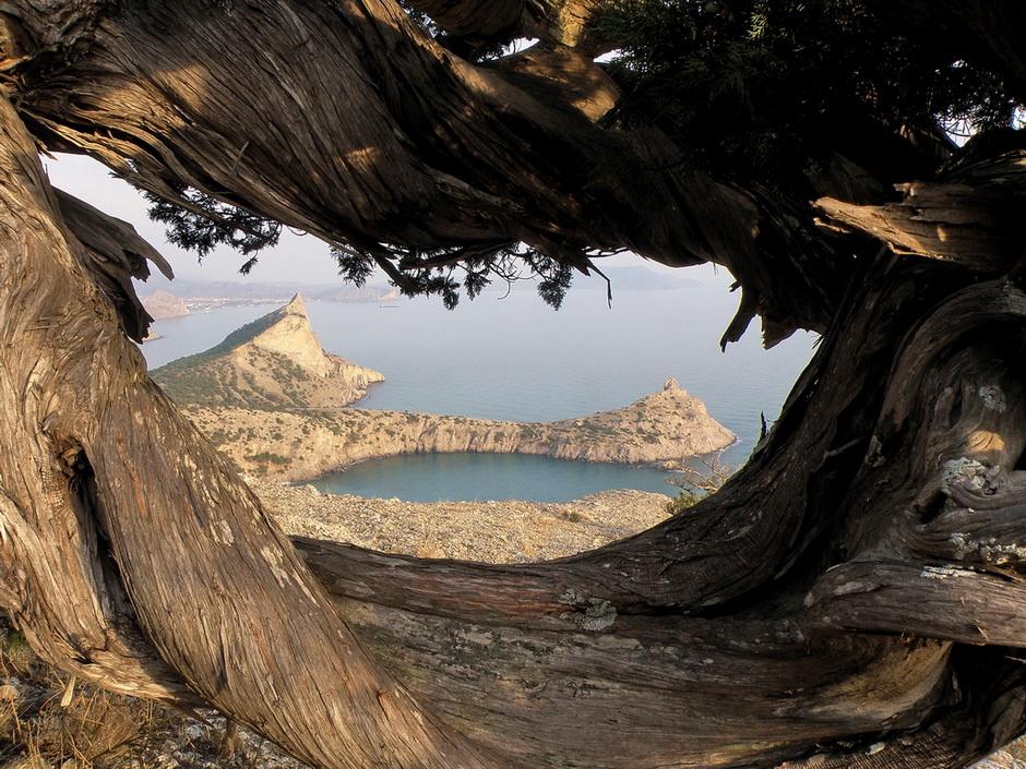 Hide-and-seek   cave, hill, sea, water