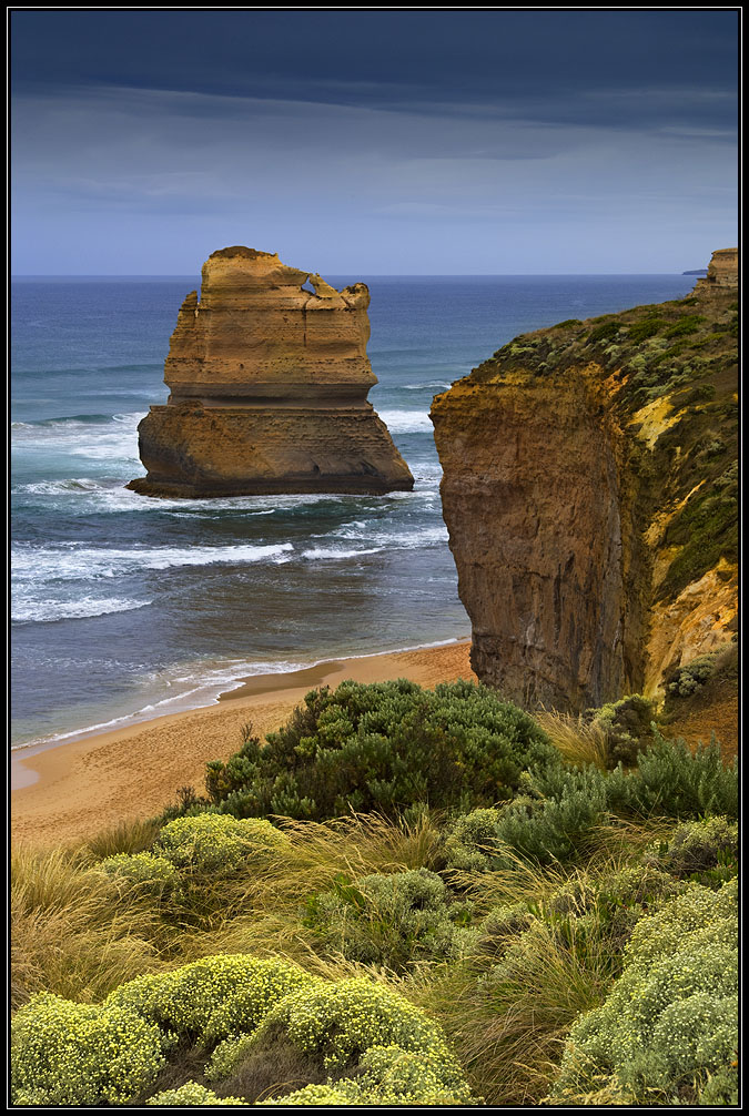 Coast, Australia | landscape, nature, water, stones, Australia, ocean, grass, coast, dry land, sand
